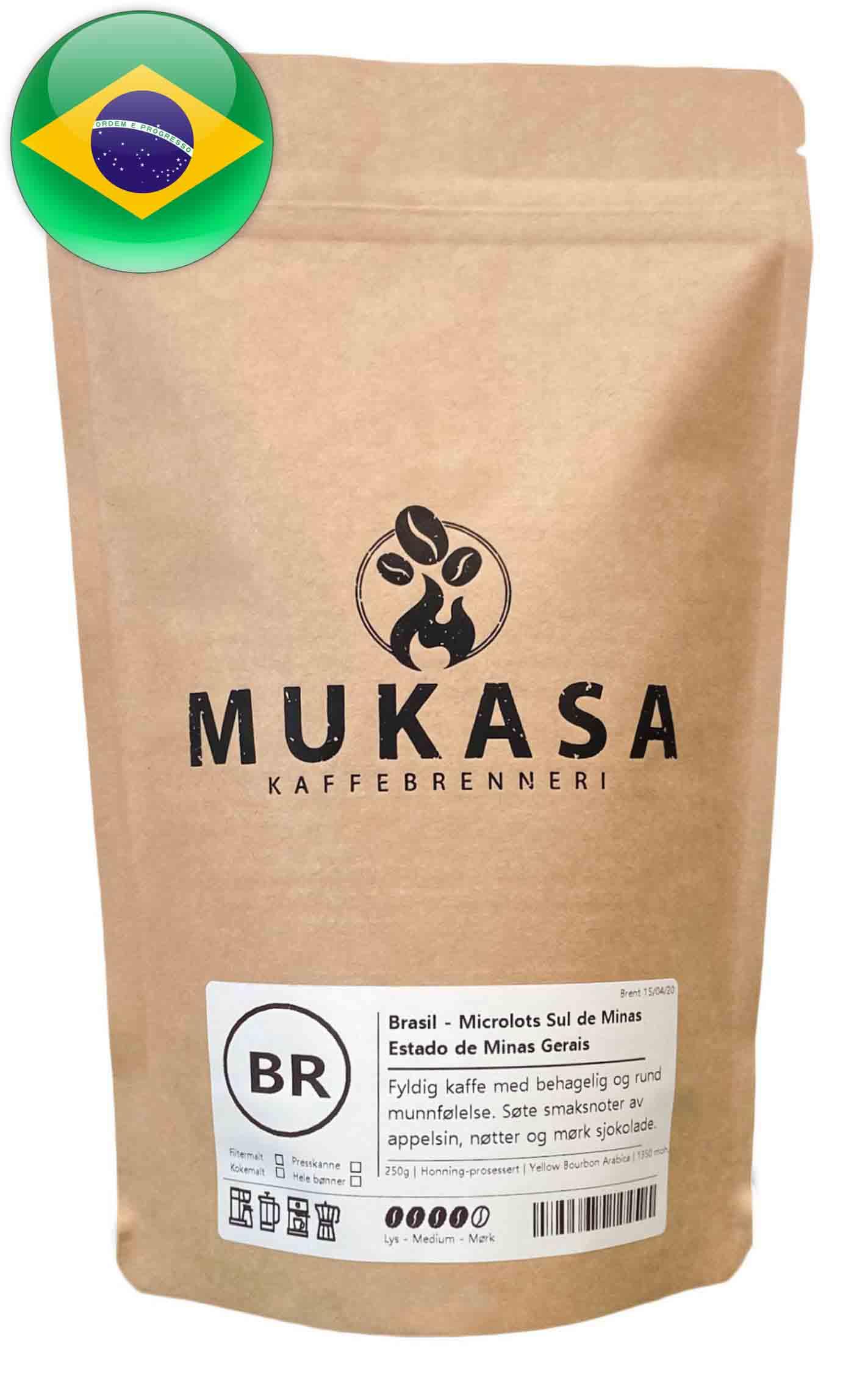 Kaffebønner fra Brasil espresso