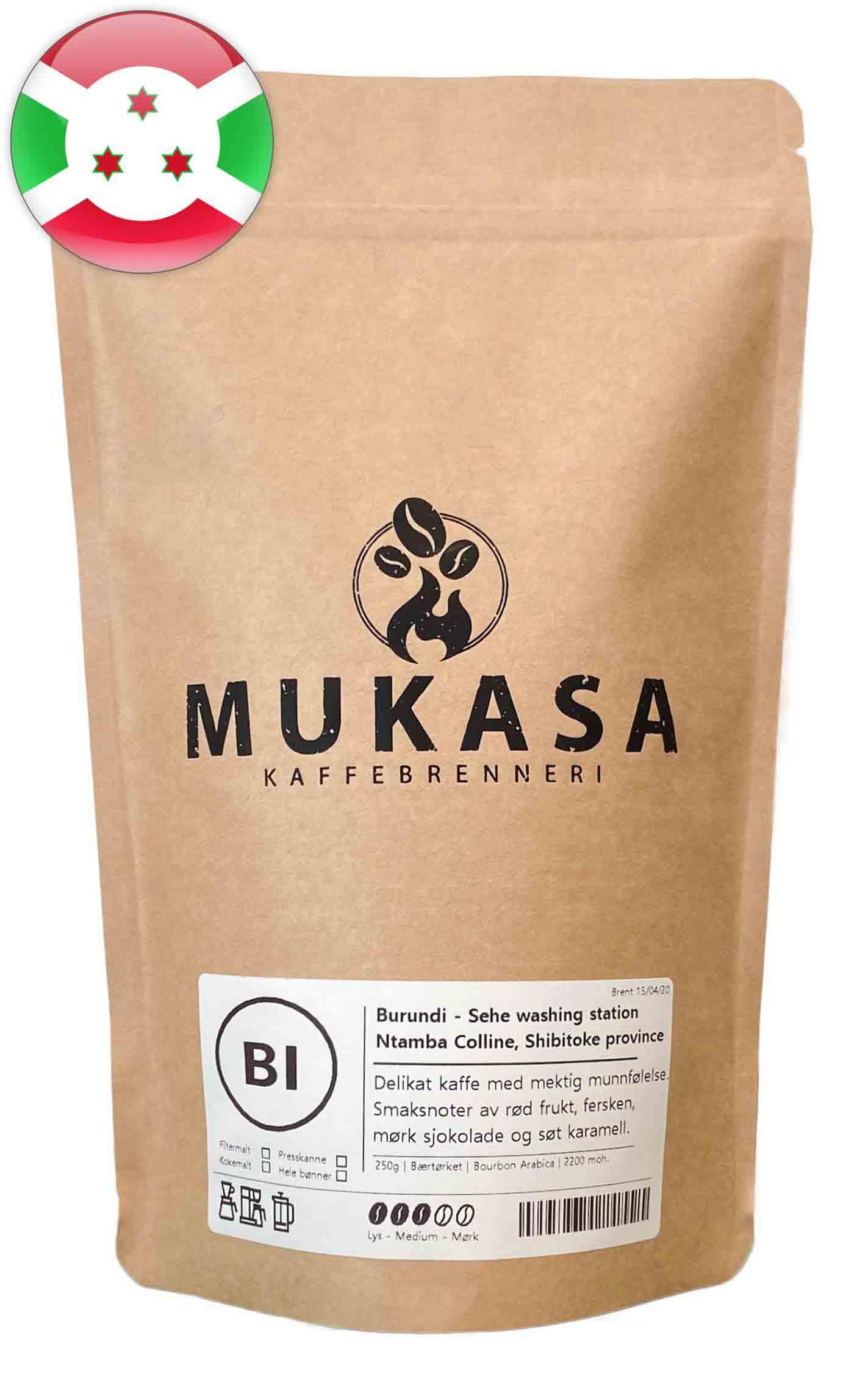 Kaffebønner fra Burundi