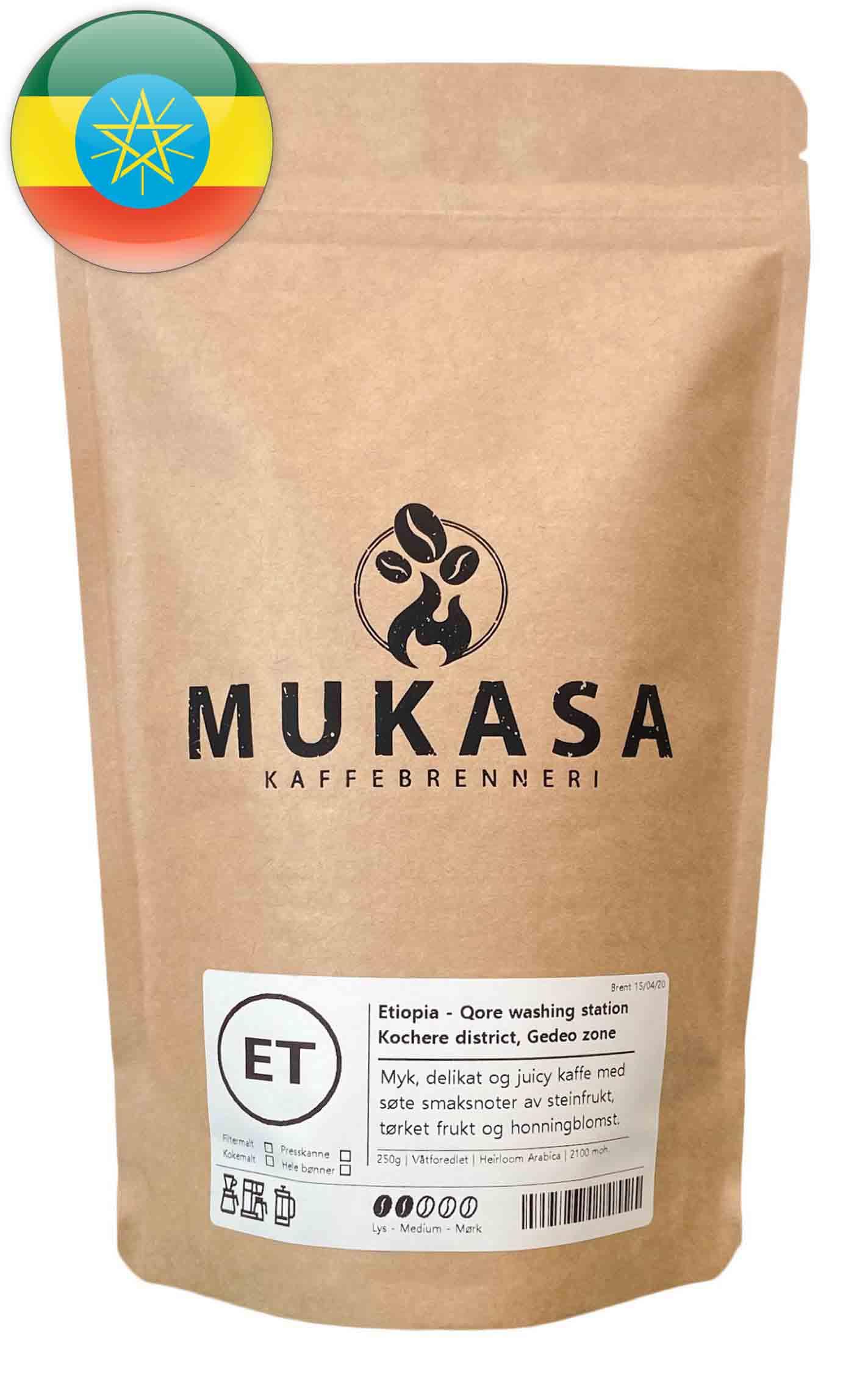 Kaffebønner fra Etiopia Gedeo