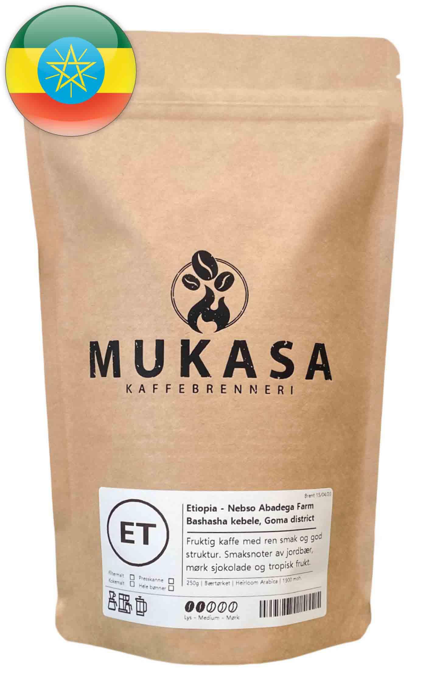 Kaffebønner fra Etiopia single-estate